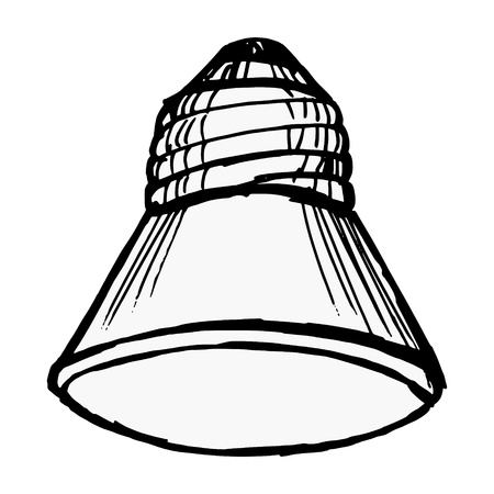 light emitting diode: Illustration of a led lamp on white background Illustration