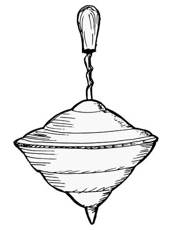 whirligig: hand drawn, sketch illustration of whirligig