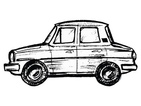 предмет коллекционирования: рисованной, эскиз, иллюстрация мультфильм автомобиля