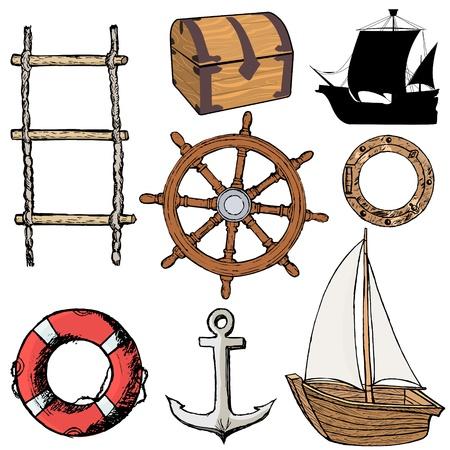 caravelle: mis d'illustrations de marins objets li�s