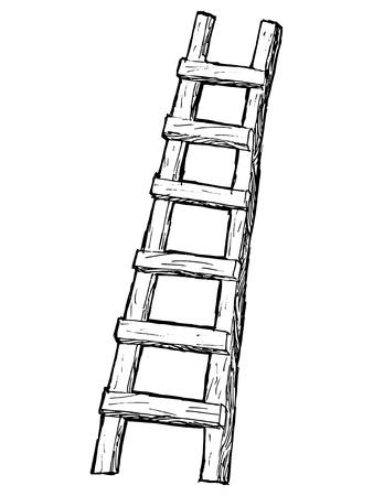 hand drawn, cartoon, sketch illustration of ladder Stock Vector - 20044051