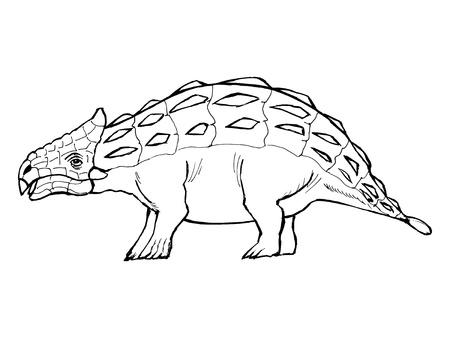 monstrous: disegnati a mano, vettore, illustrazione schizzo di anchilosauro
