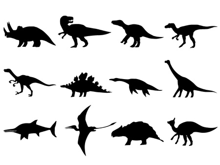 hand drawn, sketch illustration of different dinosaurs Stock Vector - 21644801