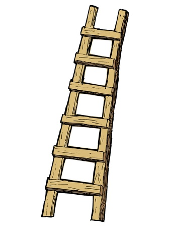 hand drawn, cartoon, sketch illustration of ladder Stock Vector - 21644808