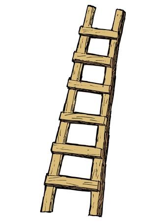 hand drawn, cartoon, sketch illustration of ladder Stock Vector - 21644808