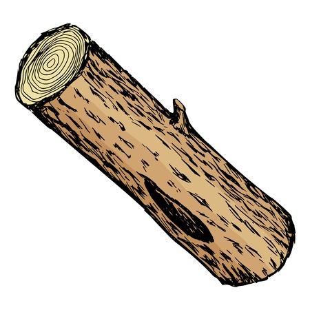 dibujados a mano, dibujos animados, ilustración boceto de registro de madera