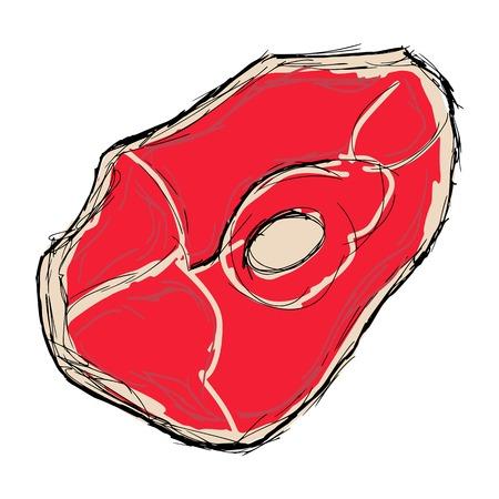 hand drawn cartoon: dibujados a mano, dibujos animados, ilustraci�n boceto de carne