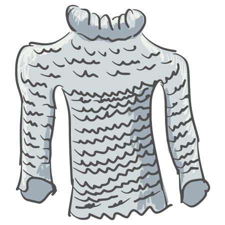 hand drawn cartoon: dibujados a mano, dibujos animados, ilustraci�n boceto de su�ter Vectores