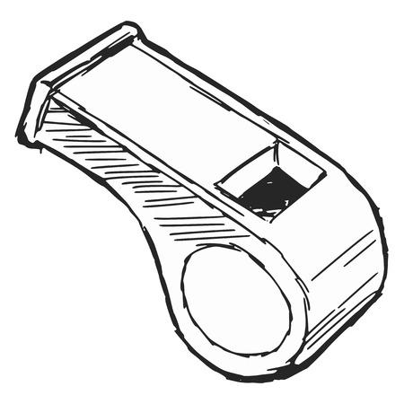 soccer coach: cartoon illustration of whistle