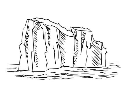 hand drawn, cartoon, sketch illustration of iceberg Stock Vector - 28095126