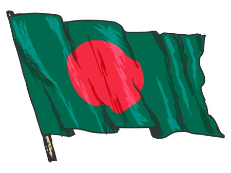 illustration of flag of Bangladesh Vector