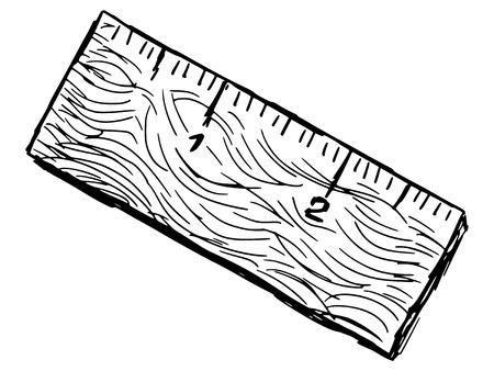 yard stick: sketch, doodle, hand drawn illustration of ruler