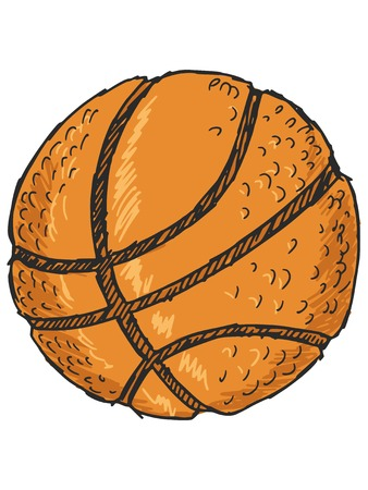 sketch, doodle, hand drawn illustration of basketball ball Иллюстрация
