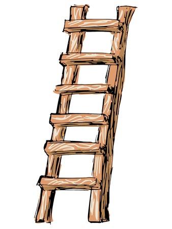 skizze, gekritzel, Hand gezeichnete Illustration von Leiter