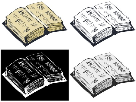 Editable vector illustrations in variations. Open book Vector