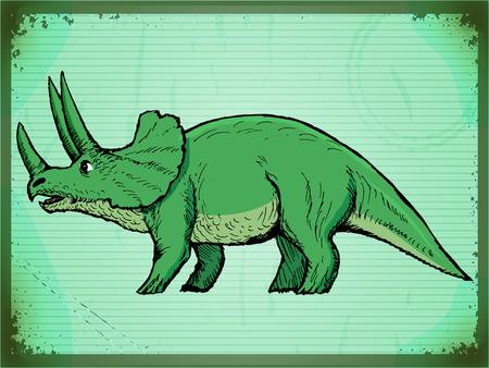 monstrous: moda, vintage, grunge background con dinosauro