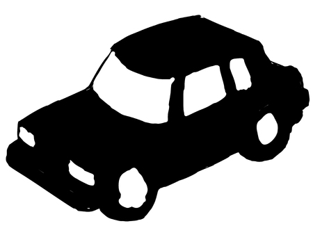 toy the car: black silhouette of toy car