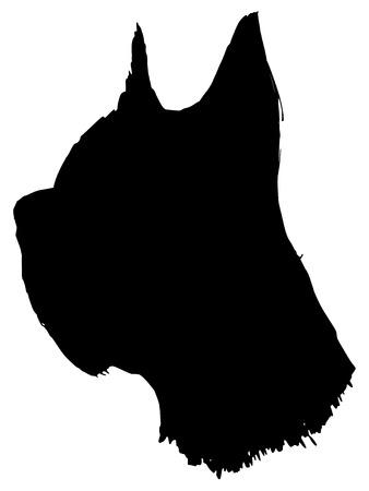 great dane: black silhouette of great dane