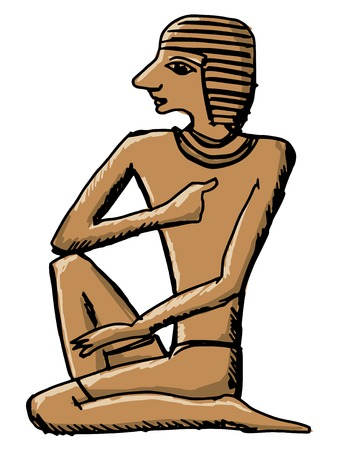 civilisation: sketch, cartoon illustration of hieroglyph of ancient Egypt