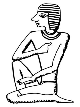 hieroglyph: sketch, cartoon illustration of hieroglyph of ancient Egypt