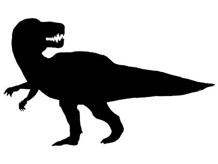 reptilia: black silhouette of tyrannosaurus