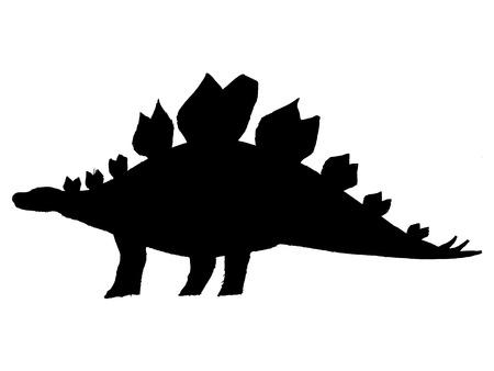 stegosaurus: negro silueta de estegosaurio