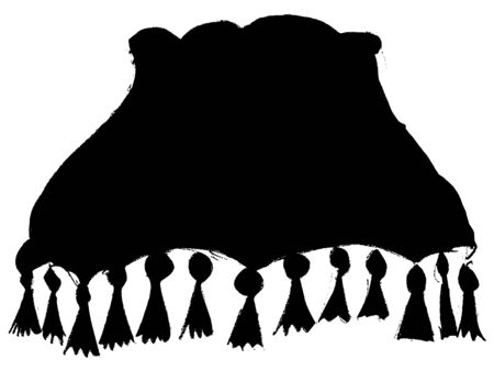 black silhouette of lampshade Illustration