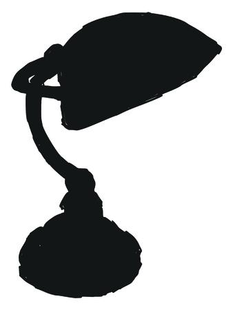 black silhouette of lamp