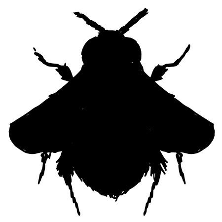 bombus: black silhouette of bumblebee