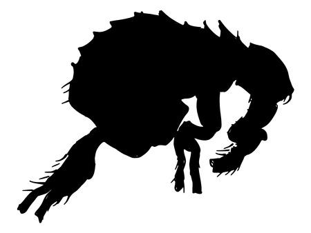 flea: black silhouette of flea