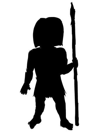 savage: black silhouette of savage