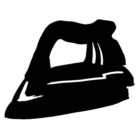 plancha de vapor: negro silueta de la plancha de vapor Vectores