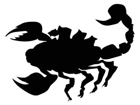 toxic substance: silhouette of scorpion