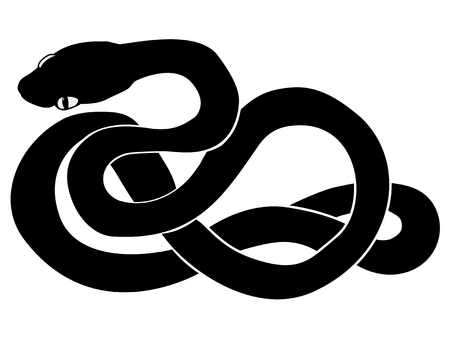 adder: silhouette of snake