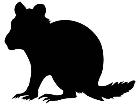 ardilla listada: silueta de ardilla
