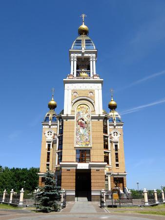 the orthodox church: modern architecture in Kyiv, Ukraine, orthodox church