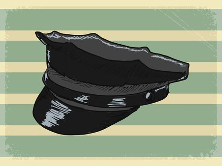 peaked: vintage, grunge background with police peaked cap