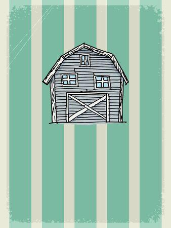 old barn: vintage, grunge con motivo rurale