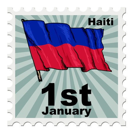 post stamp: post stamp of national day of Haiti