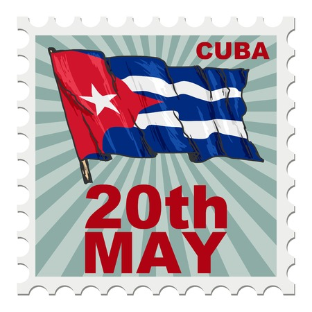 national day: post stamp of national day of Cuba