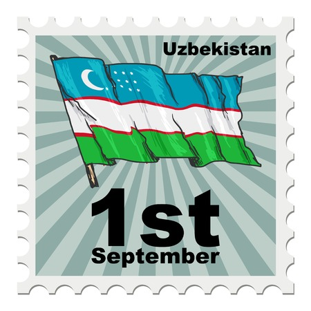 post stamp: post stamp of national day of Uzbekistan