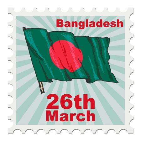 post stamp: post stamp of national day of Bangladesh