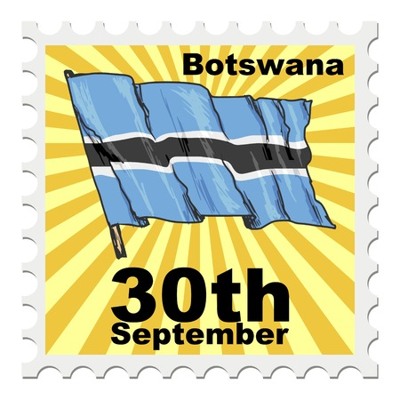 national day: post stamp of national day of Botswana