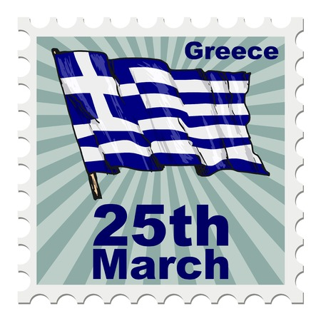 post stamp: post stamp of national day of Greece