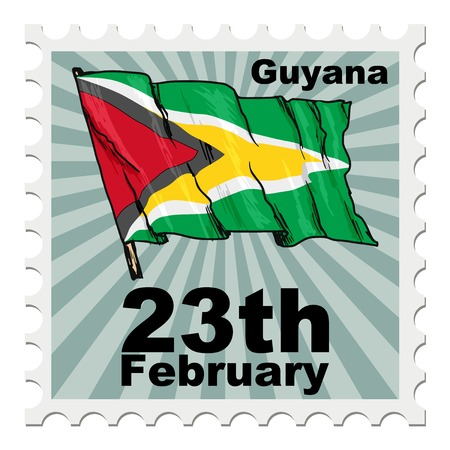 post stamp: post stamp of national day of Guyana