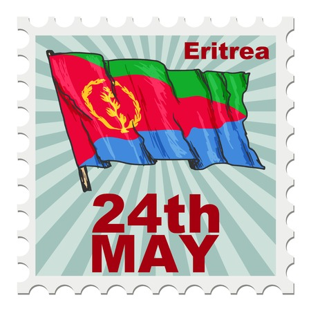 eritrea: post stamp of national day of Eritrea