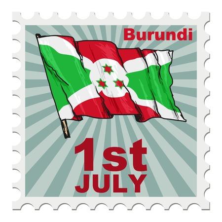 national day: post stamp of national day of Burundi
