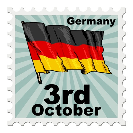 post stamp: post stamp of national day of Germany Illustration