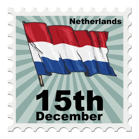 post stamp of national day of Netherlands Иллюстрация