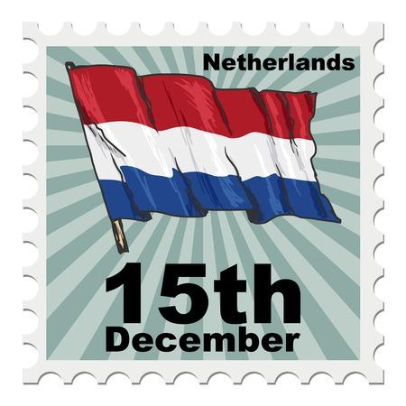 post stamp: post stamp of national day of Netherlands Illustration